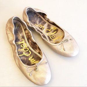 SamEdelman  Rose Gold Felicia Ballet Flats